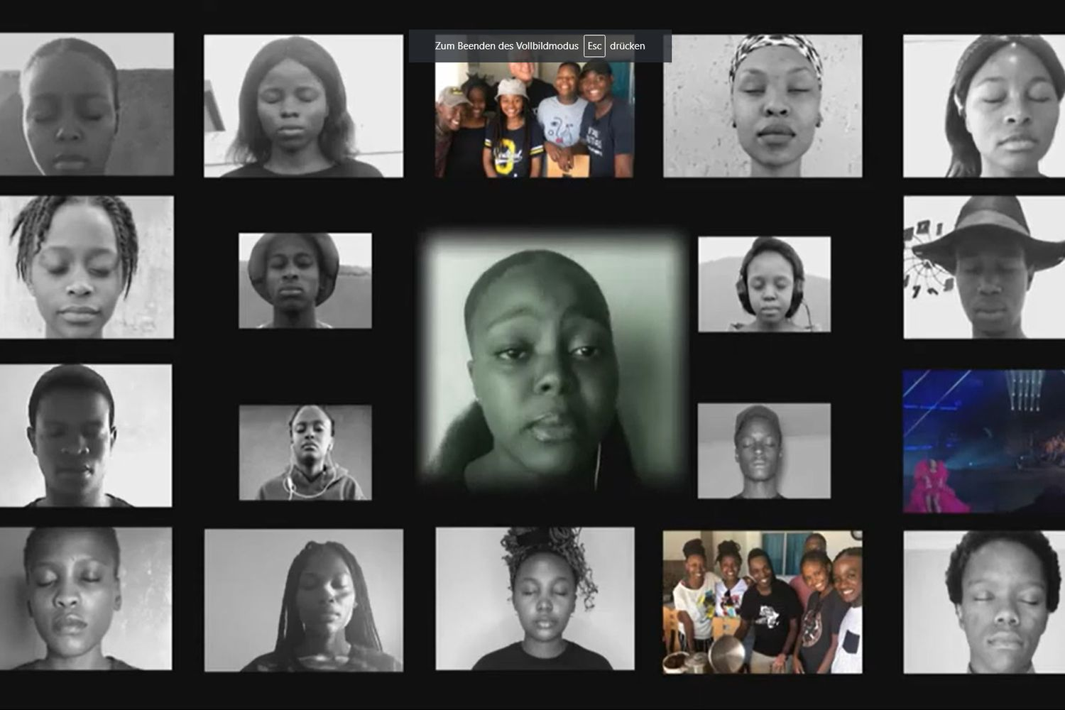 Screenshot Virtual Choir Mzansi Youth Choir