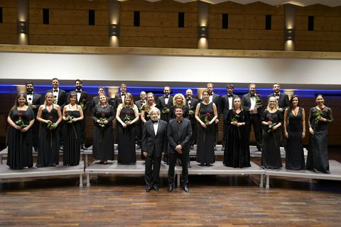 Chamber Choir of Europe with Morten Lauridsen and Artistic Director Nicol Matt © Dagmar Titsch