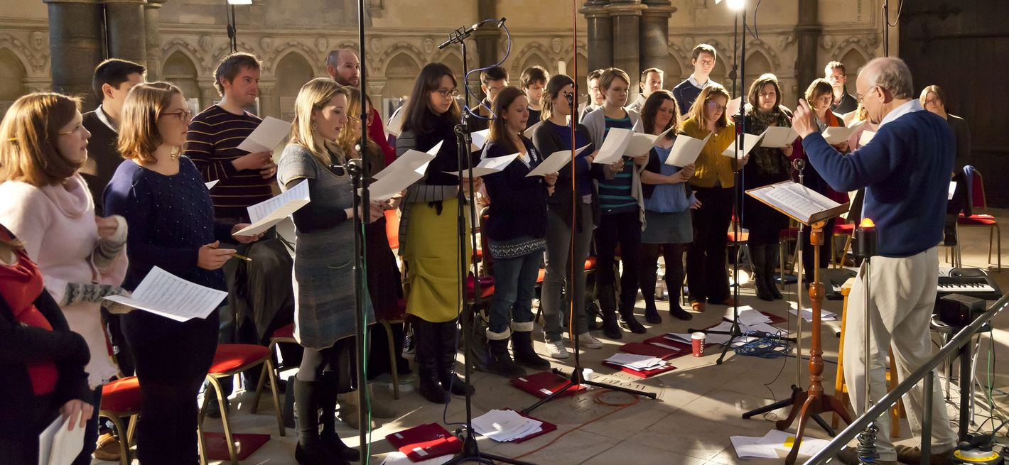 Singing session with John Rutter © Nick Rutter