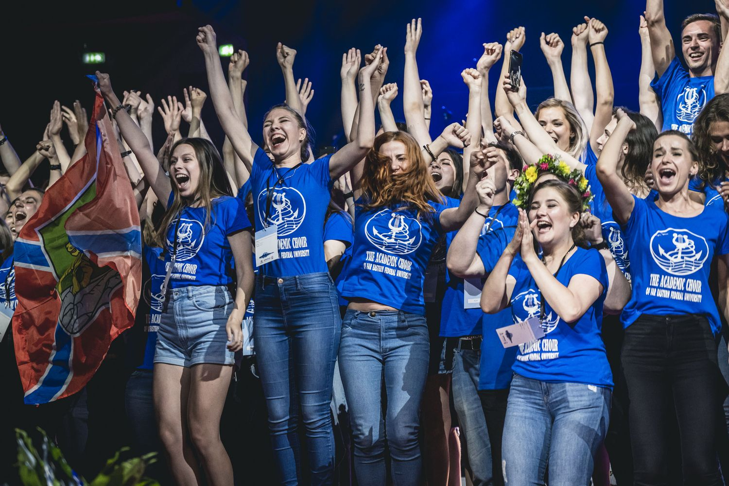 Cheering choir at Award Ceremony © Jonas Persson