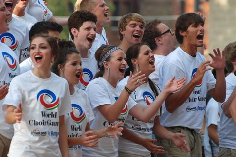 Choir performing at the World Choir Games © Kathleen Kennedy