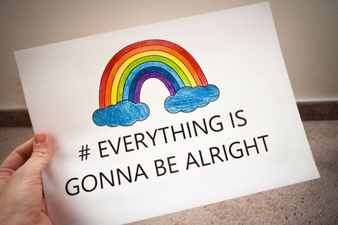 Rainbow with text: Everything is gonna be alright © Adobe Stock
