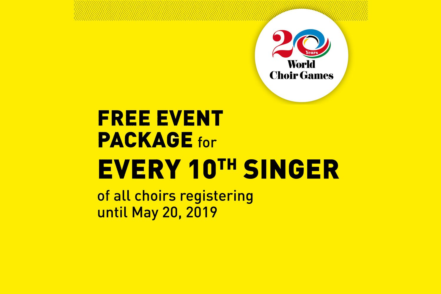 Free Games 2020.Free Event Package For Every 10th Singer Interkultur